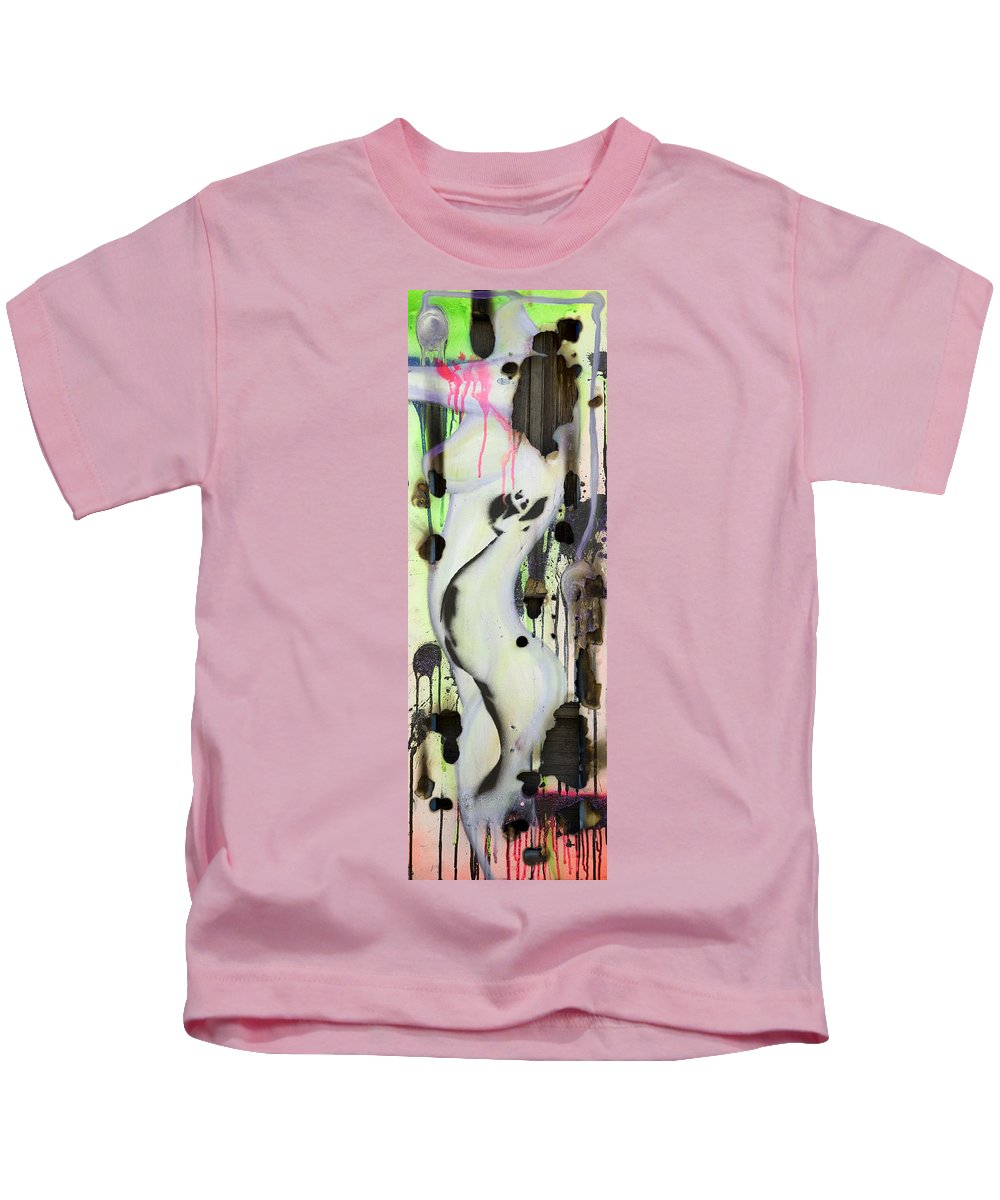 Woman Kids T-Shirt featuring the painting No Winners In Love by Sheridan Furrer