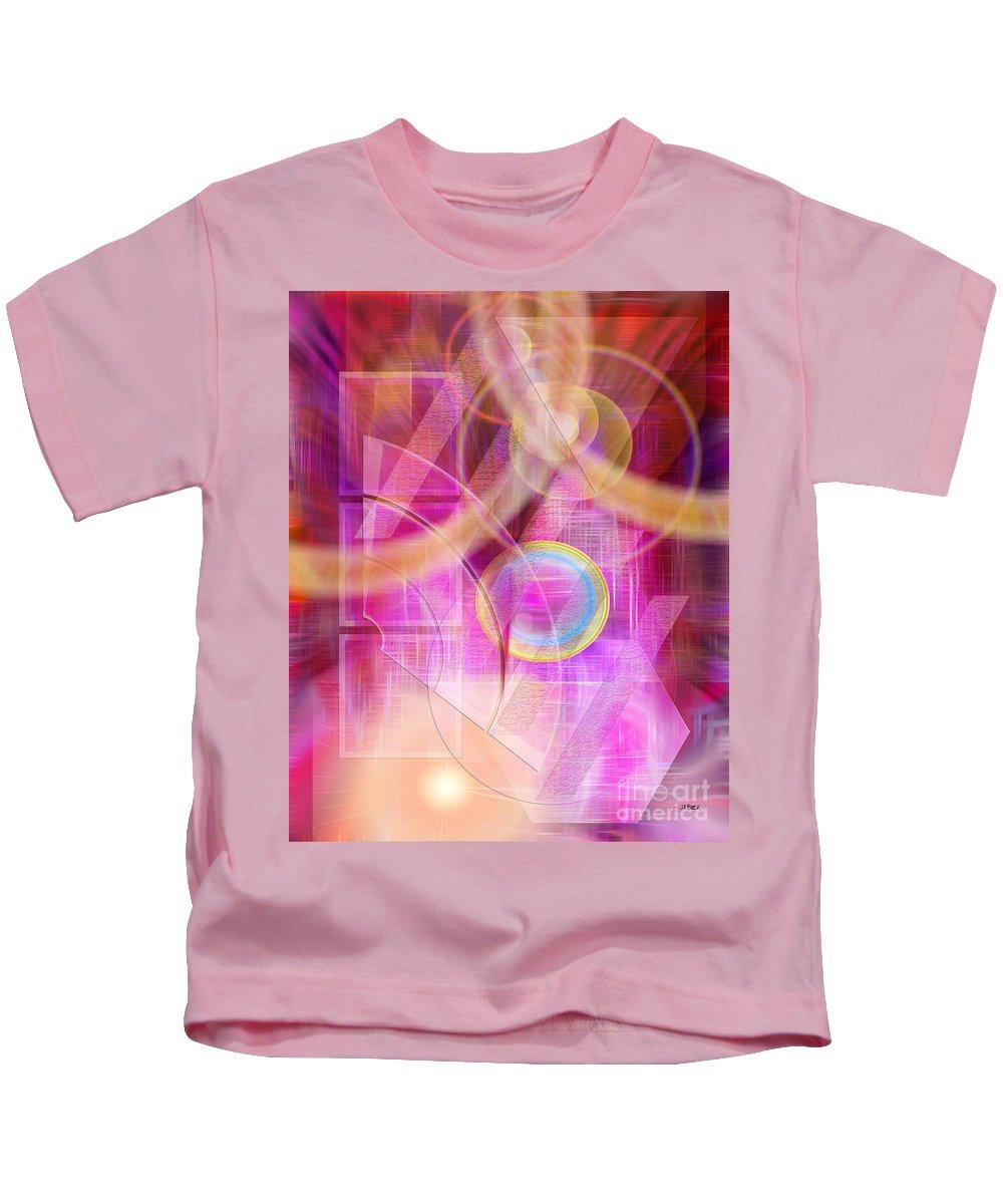 Northern Lights Kids T-Shirt featuring the digital art Northern Lights by John Beck