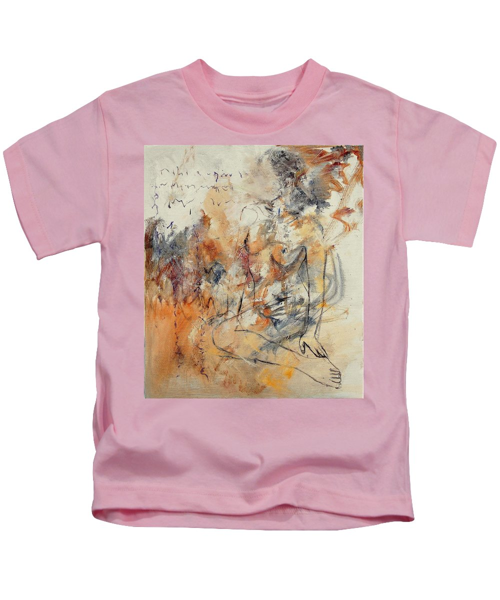Girl Kids T-Shirt featuring the painting Nude 679070 by Pol Ledent