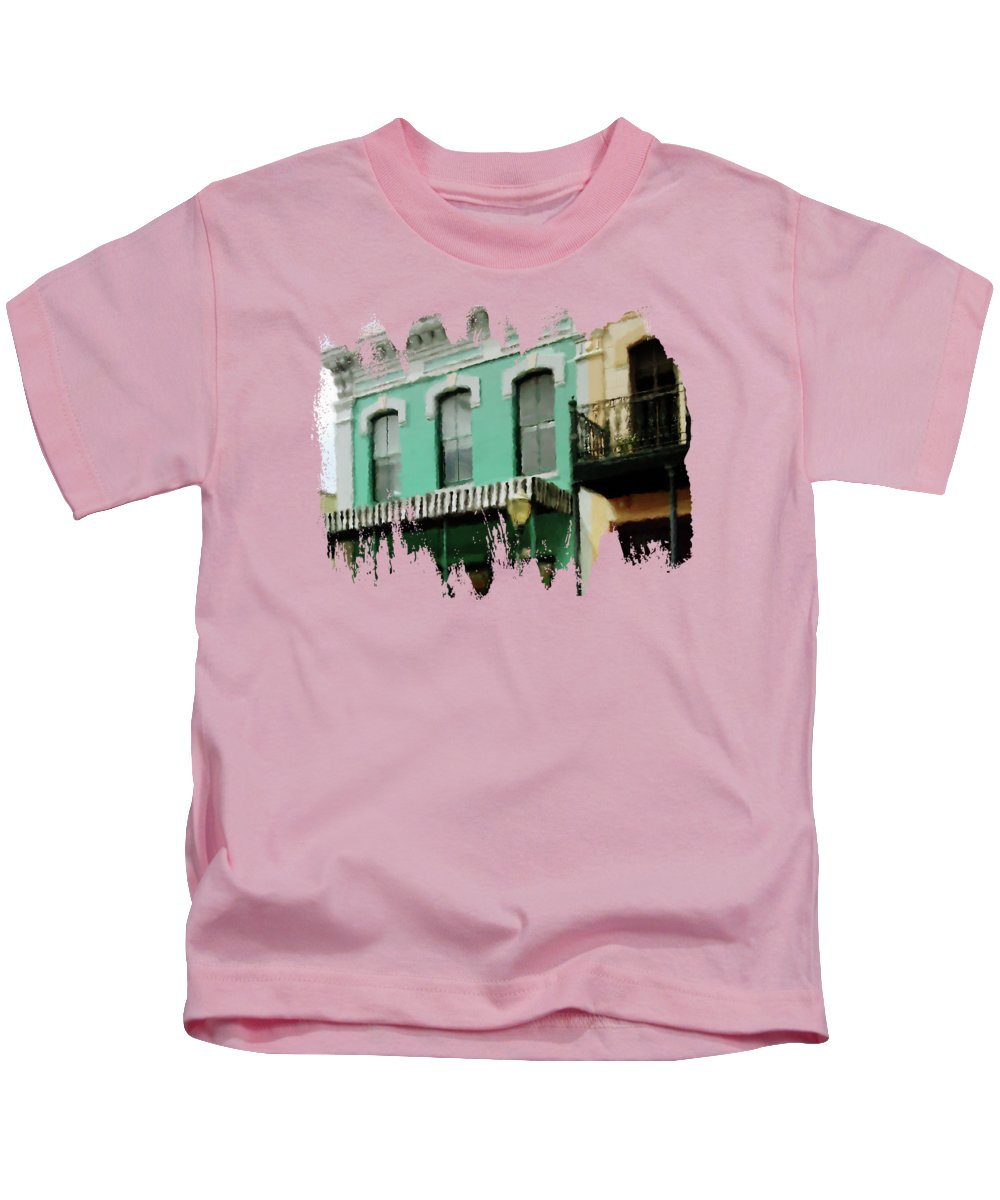 Three Georges Kids T-Shirt featuring the digital art Nuthouse by Anita Faye