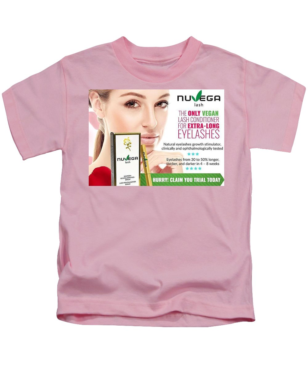 Nuvega Lash Review - Healthy Revitalizing Vegan Eyelash Growth ... Kids T-Shirt featuring the glass art Nuvega Lash by Nuvega Lash