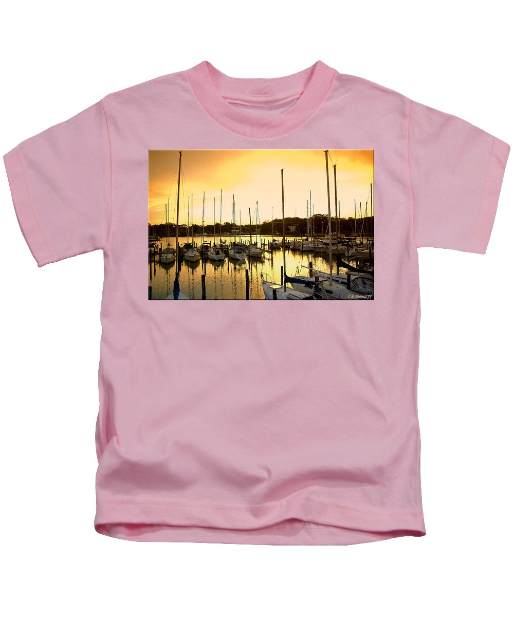 2d Kids T-Shirt featuring the photograph Oak Point Harbor by Brian Wallace