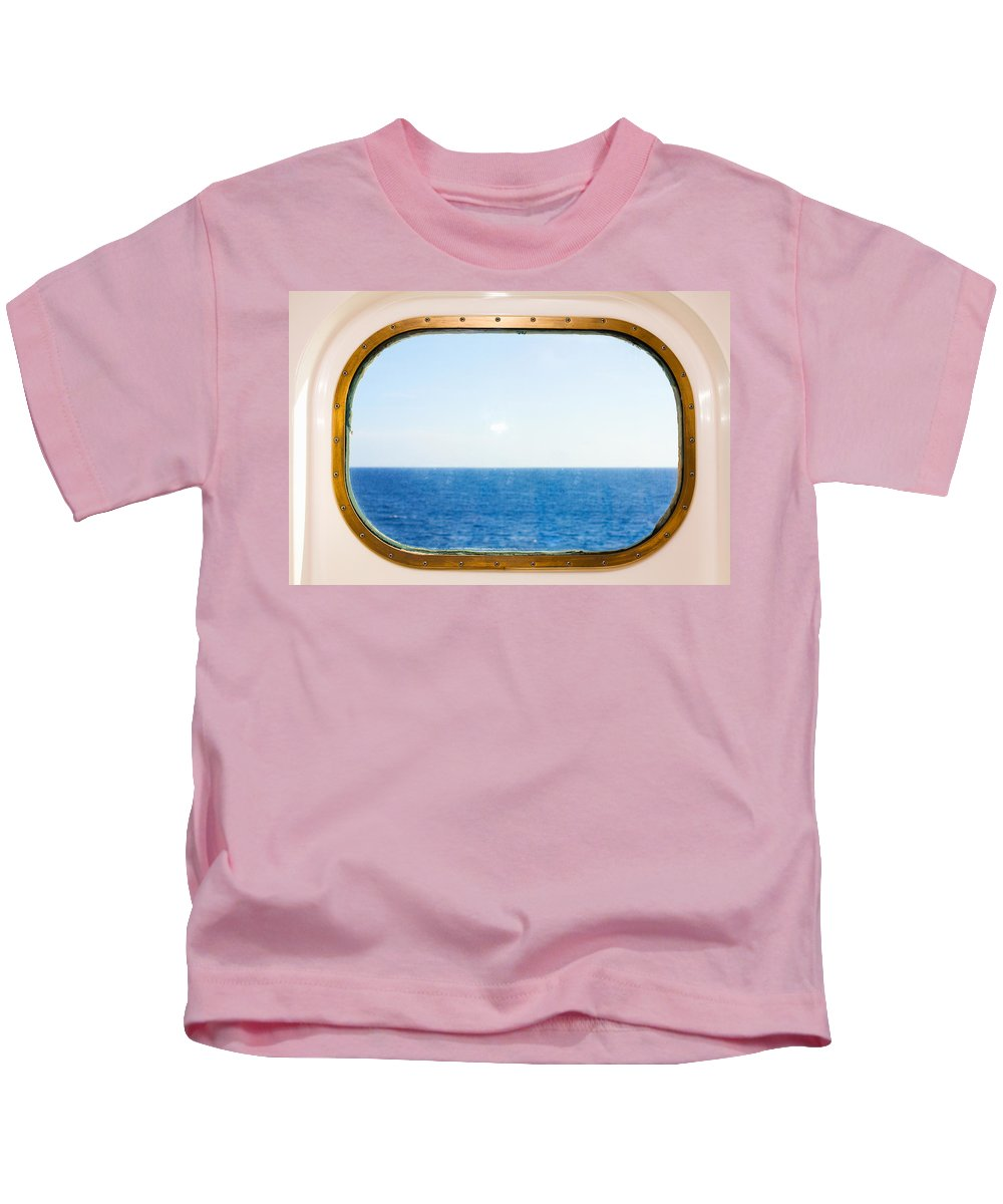 Absence Kids T-Shirt featuring the photograph Ocean View by Diane Macdonald
