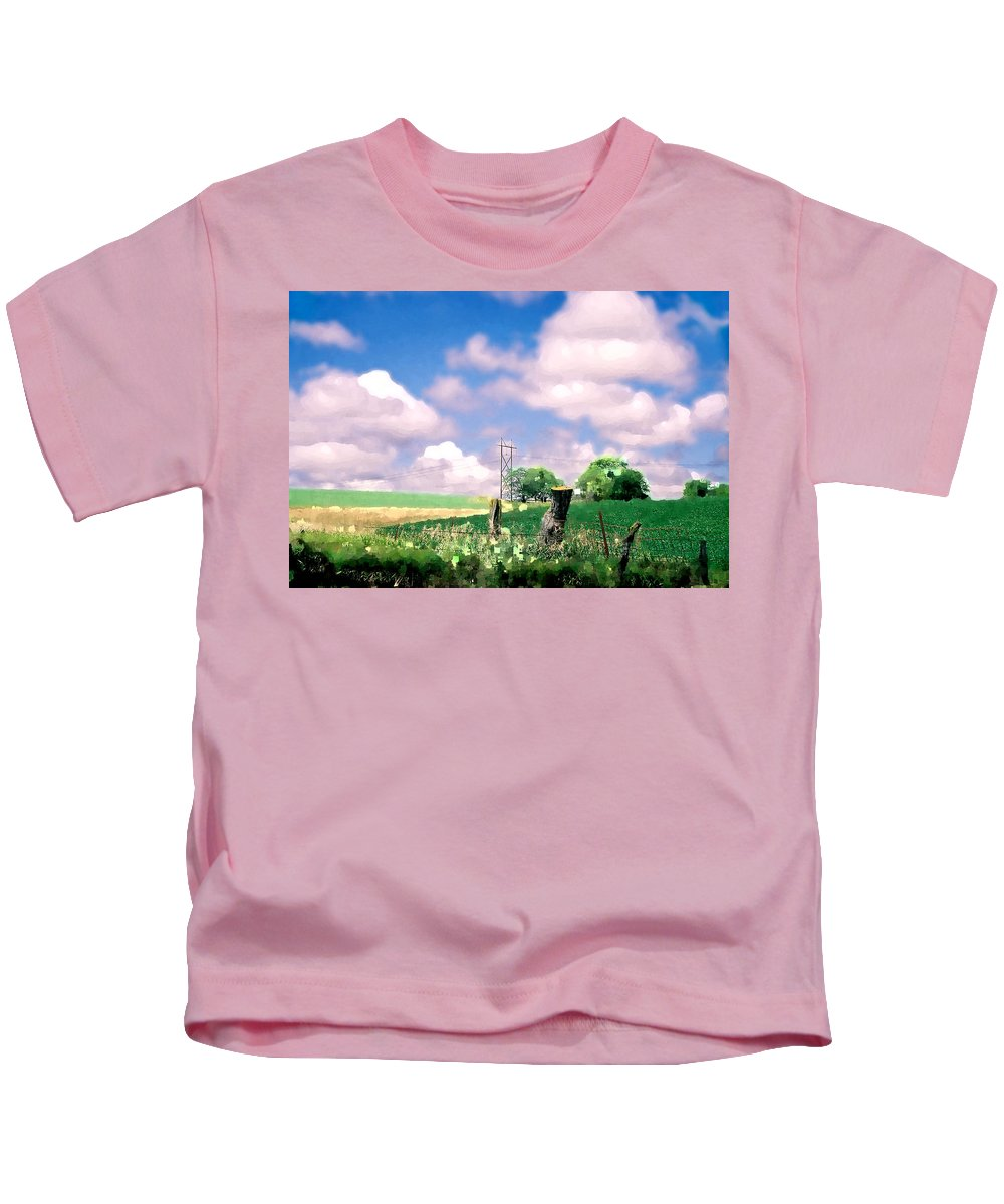 Landscape Kids T-Shirt featuring the photograph Off the grid by Steve Karol