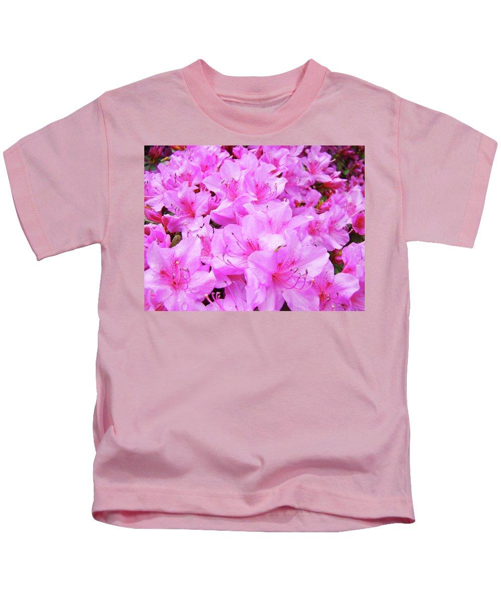 Azalea Kids T-Shirt featuring the photograph Office Art Azalea Flowers Botanical 31 Azaleas Giclee Art Prints Baslee Troutman by Baslee Troutman