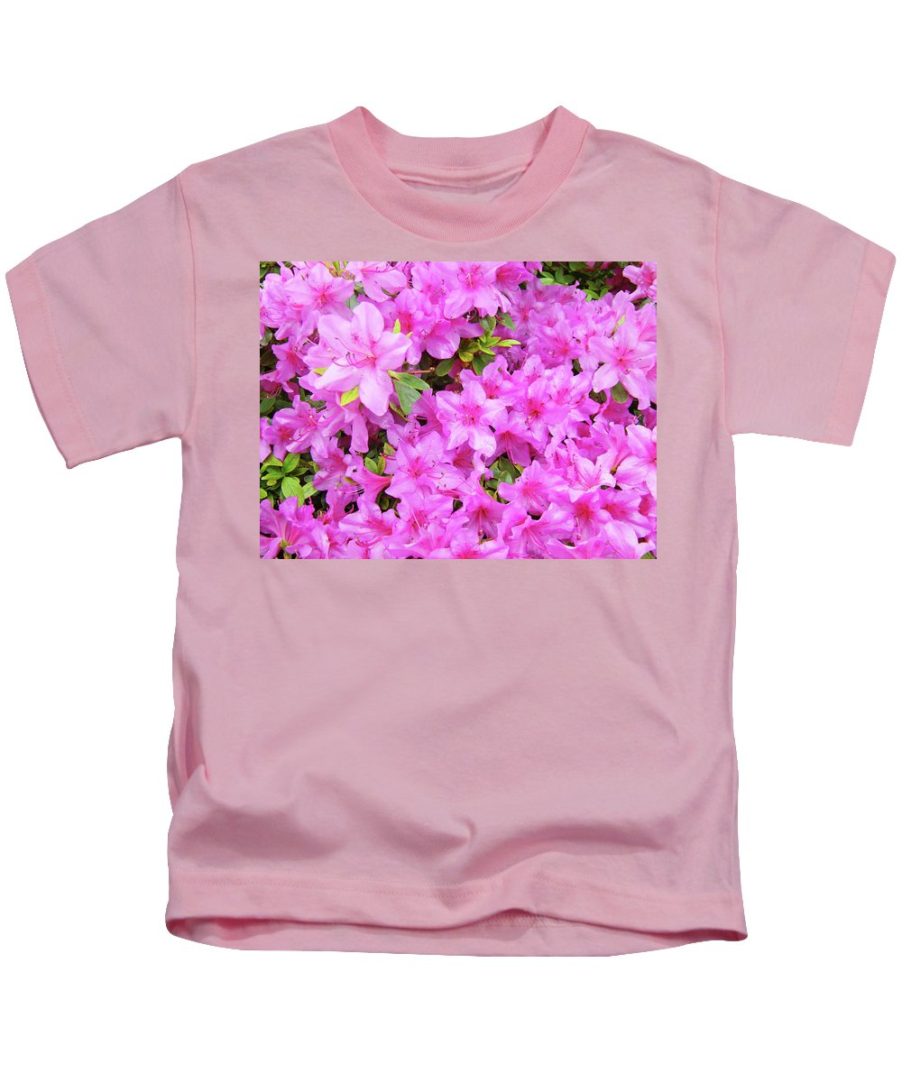 Office Kids T-Shirt featuring the photograph Office Art Azaleas Flower Art Prints 1 Azalea Flowers Giclee Baslee Troutman by Baslee Troutman
