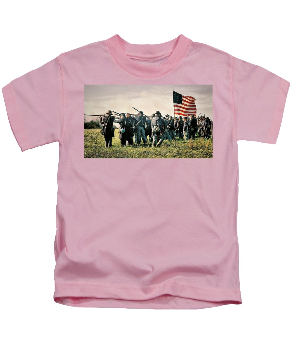 Civil War Kids T-Shirt featuring the photograph On The Field Of Battle by Lyle Hatch