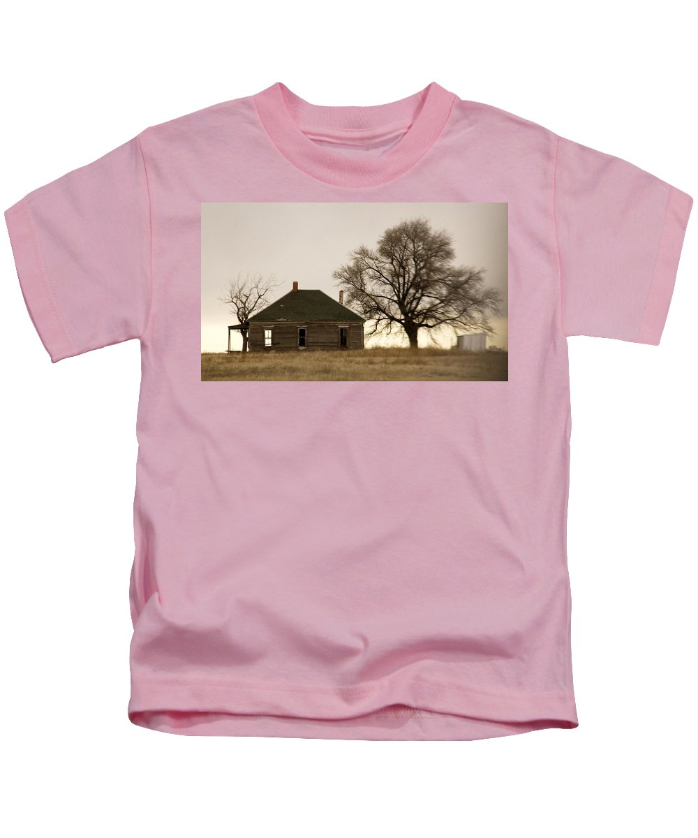 Americana Kids T-Shirt featuring the photograph Once Upon A Time In West Texas by Marilyn Hunt