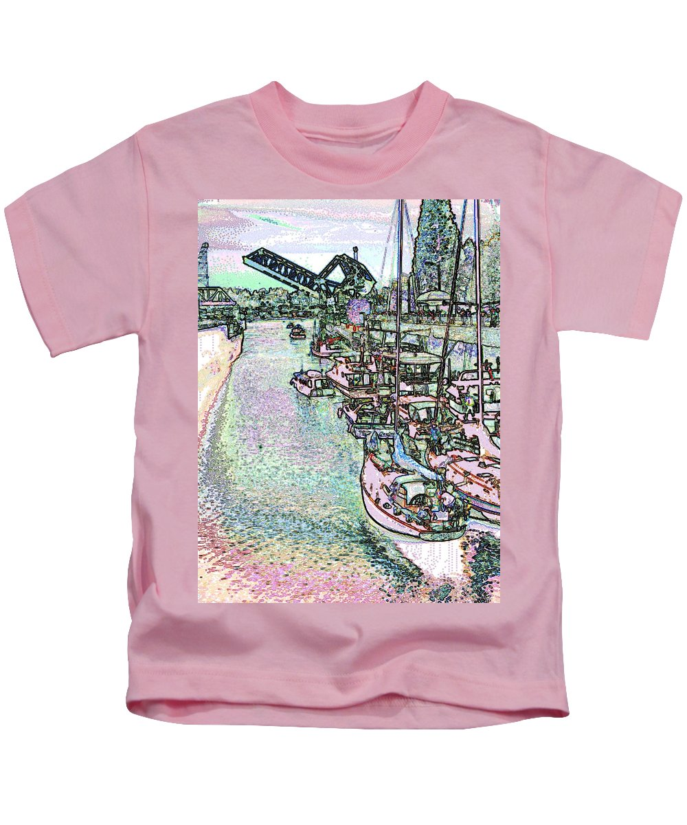 Seattle Kids T-Shirt featuring the photograph Opening Day Of Boating by Tim Allen