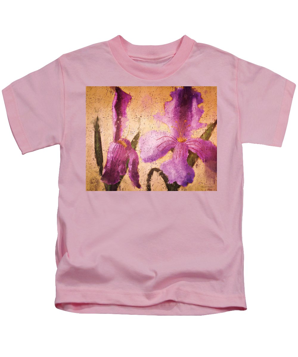 Flowers Kids T-Shirt featuring the digital art Orchids by Kacie Taylor
