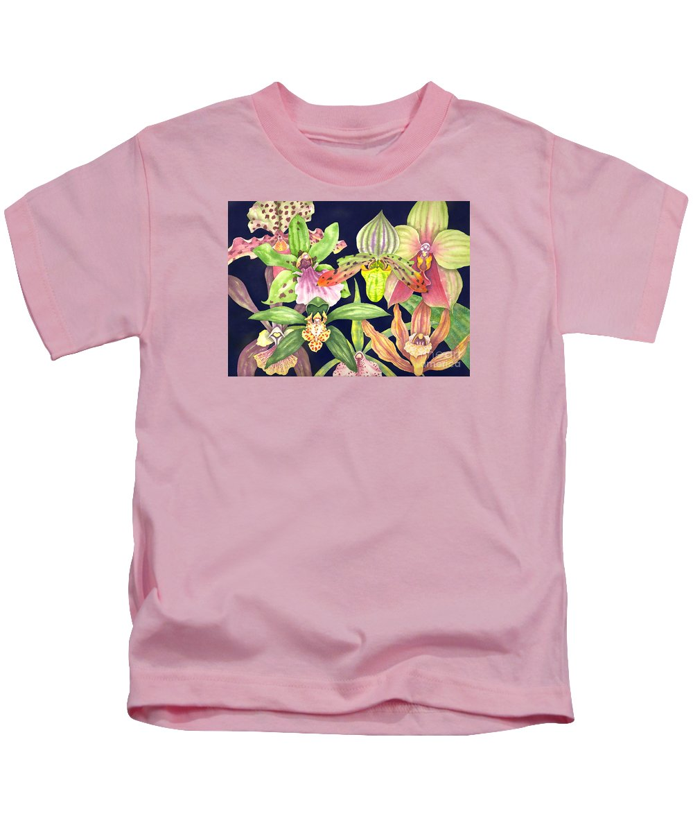 Orchids Kids T-Shirt featuring the painting Orchids by Lucy Arnold