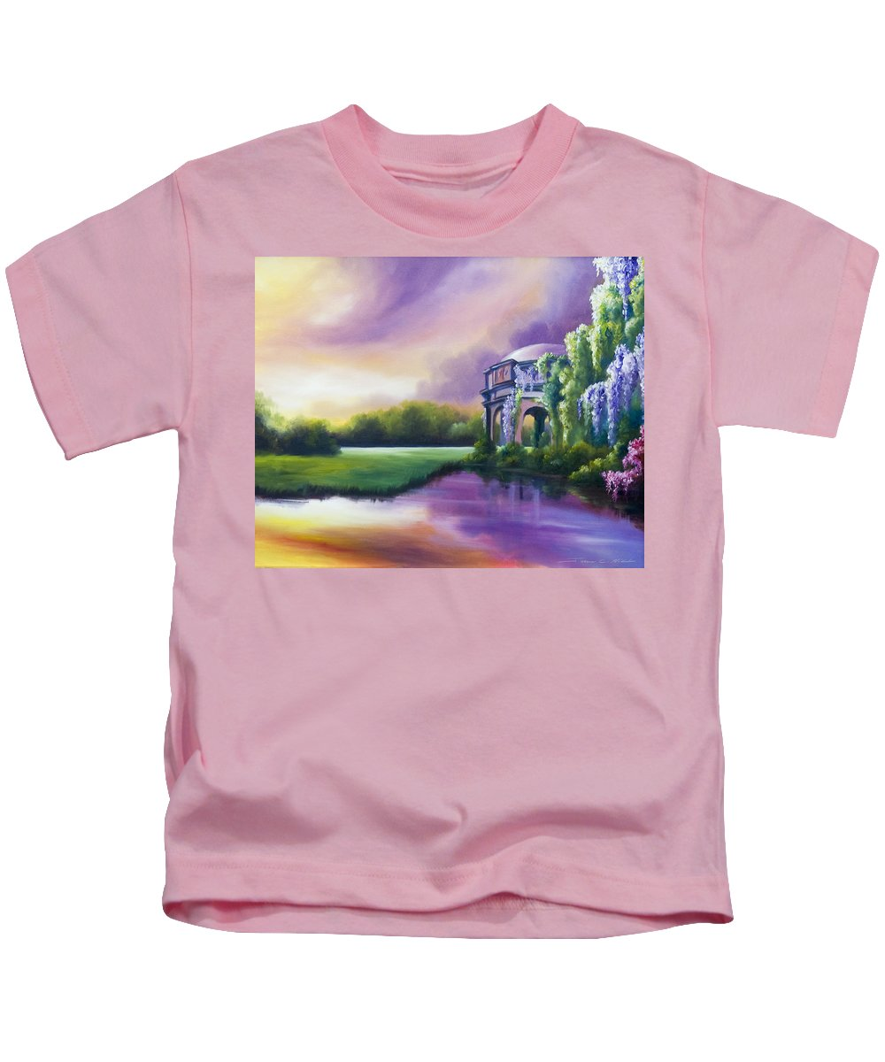 Marsh Kids T-Shirt featuring the painting Palace Of The Arts by James Christopher Hill