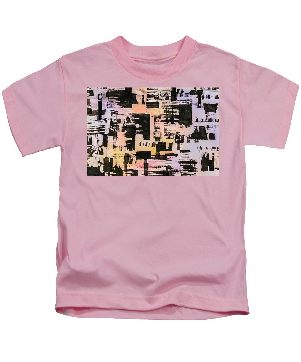 Abstract Kids T-Shirt featuring the painting Pattern 1 by Dan Sisken