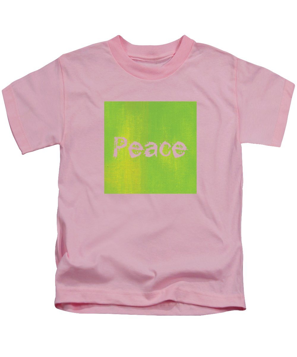 Love Kids T-Shirt featuring the mixed media Peace by Kathleen Wong