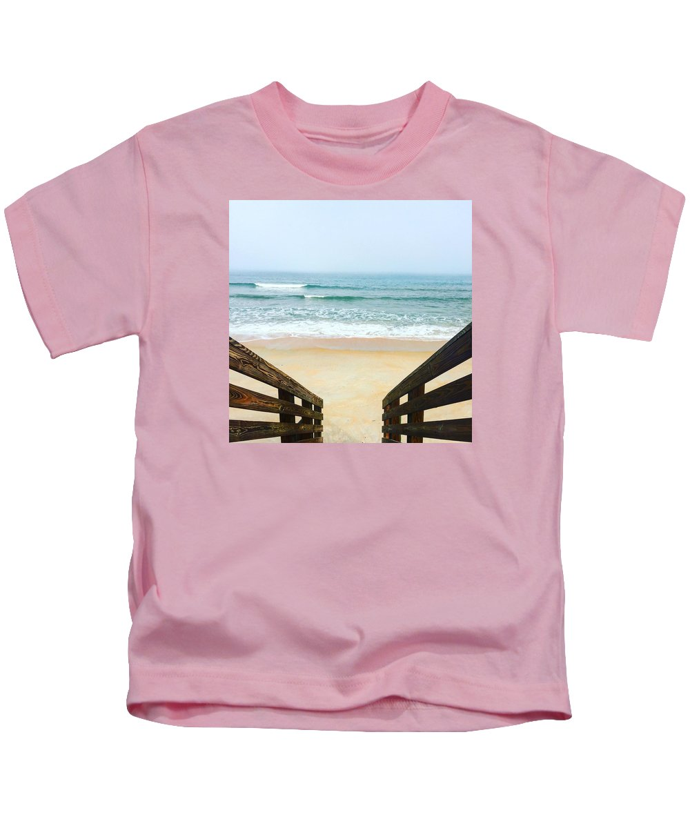 Beach Kids T-Shirt featuring the photograph Peace by Kiesha Katsares