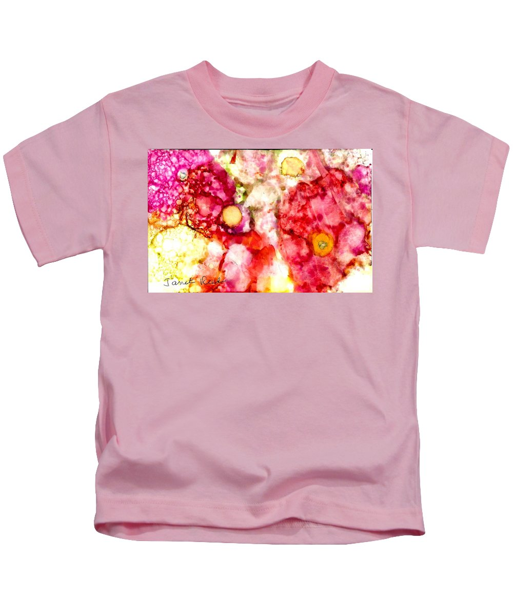 Alcohol Inks Kids T-Shirt featuring the painting Peaceful Place by Janet Reed