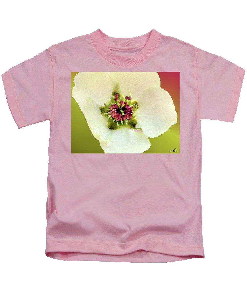 Pear Kids T-Shirt featuring the photograph Pear Petals by Kristin Elmquist