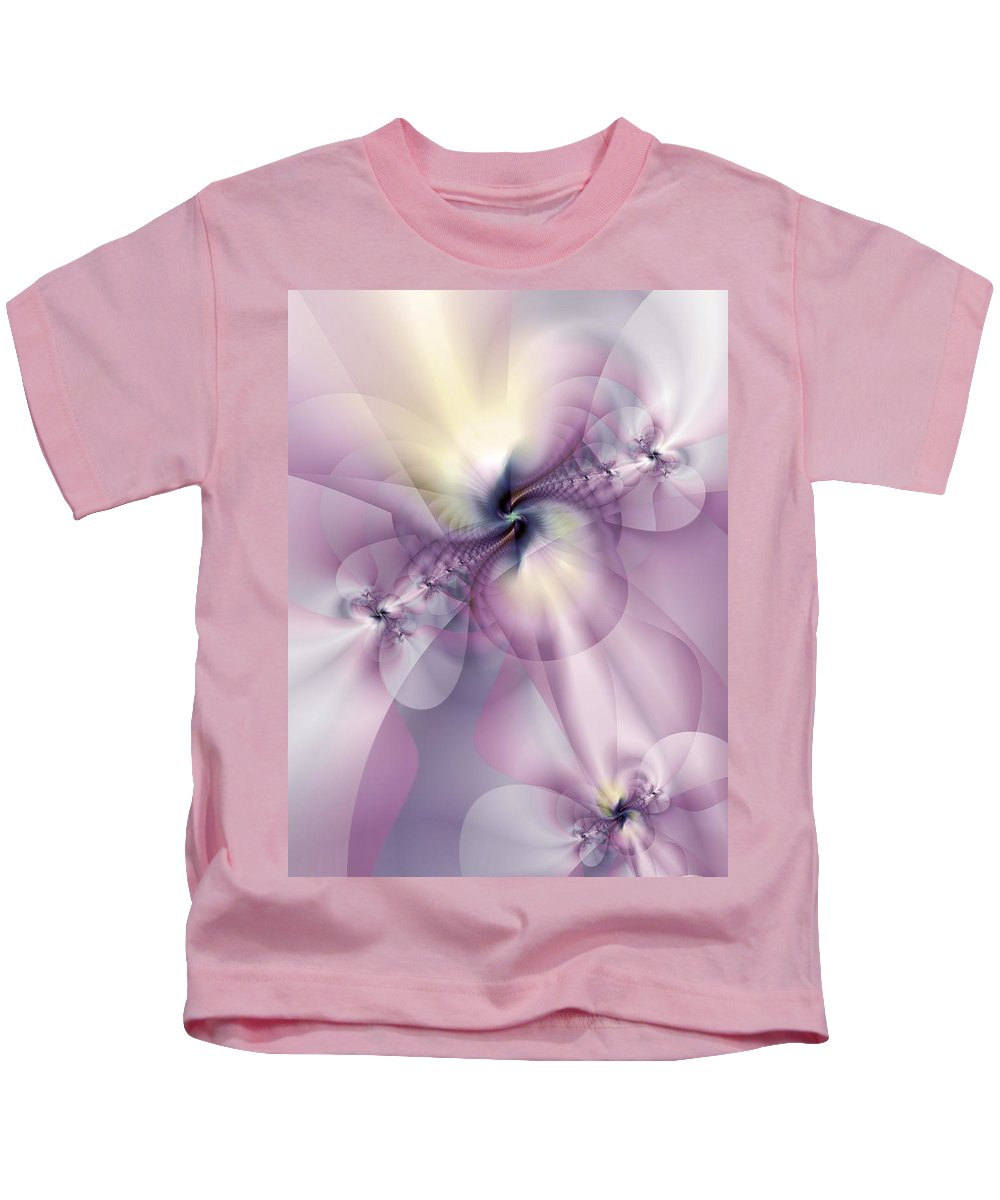 Abstract Kids T-Shirt featuring the digital art Petals Of Pulchritude by Casey Kotas
