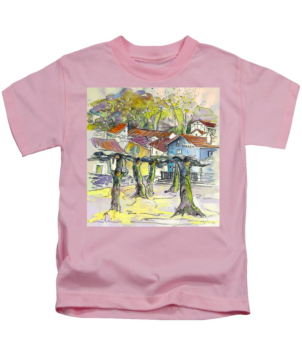 Peyrehorade Kids T-Shirt featuring the painting Peyrehorade 03 by Miki De Goodaboom