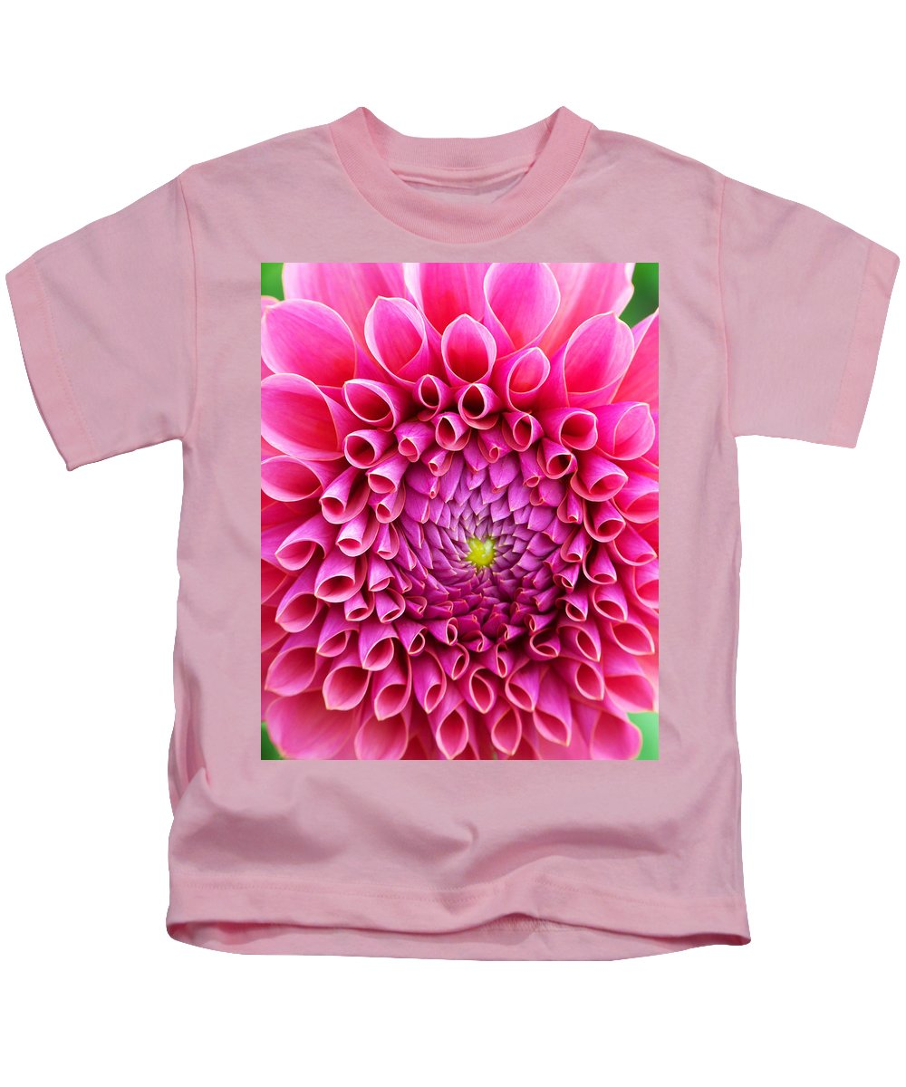 Flower Kids T-Shirt featuring the photograph Pink Flower Close Up by Anthony Jones