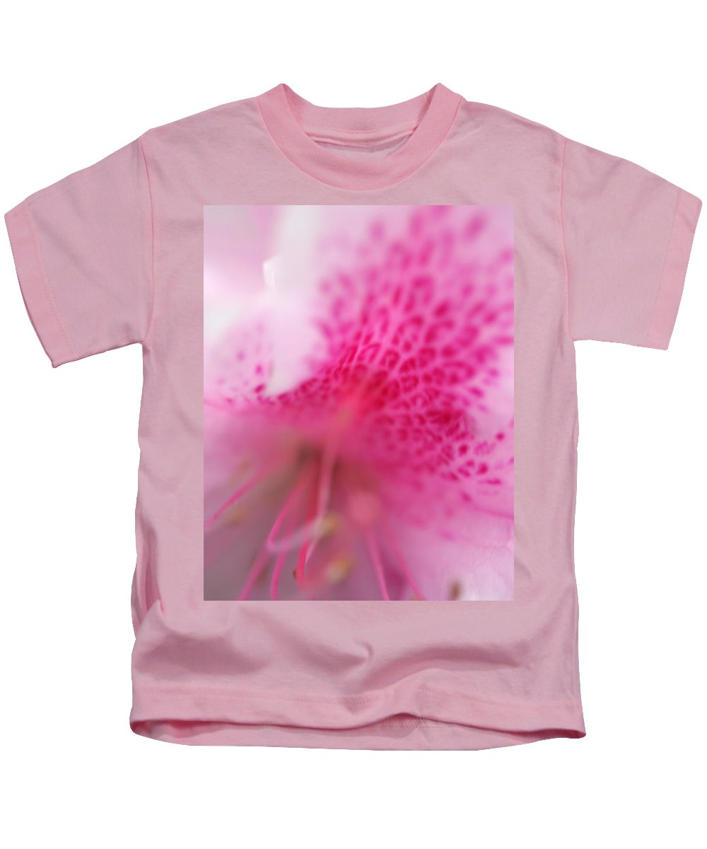 Flower Macro Zen Pink Photography Garden Kids T-Shirt featuring the photograph Pink Flower by Norah Holsten