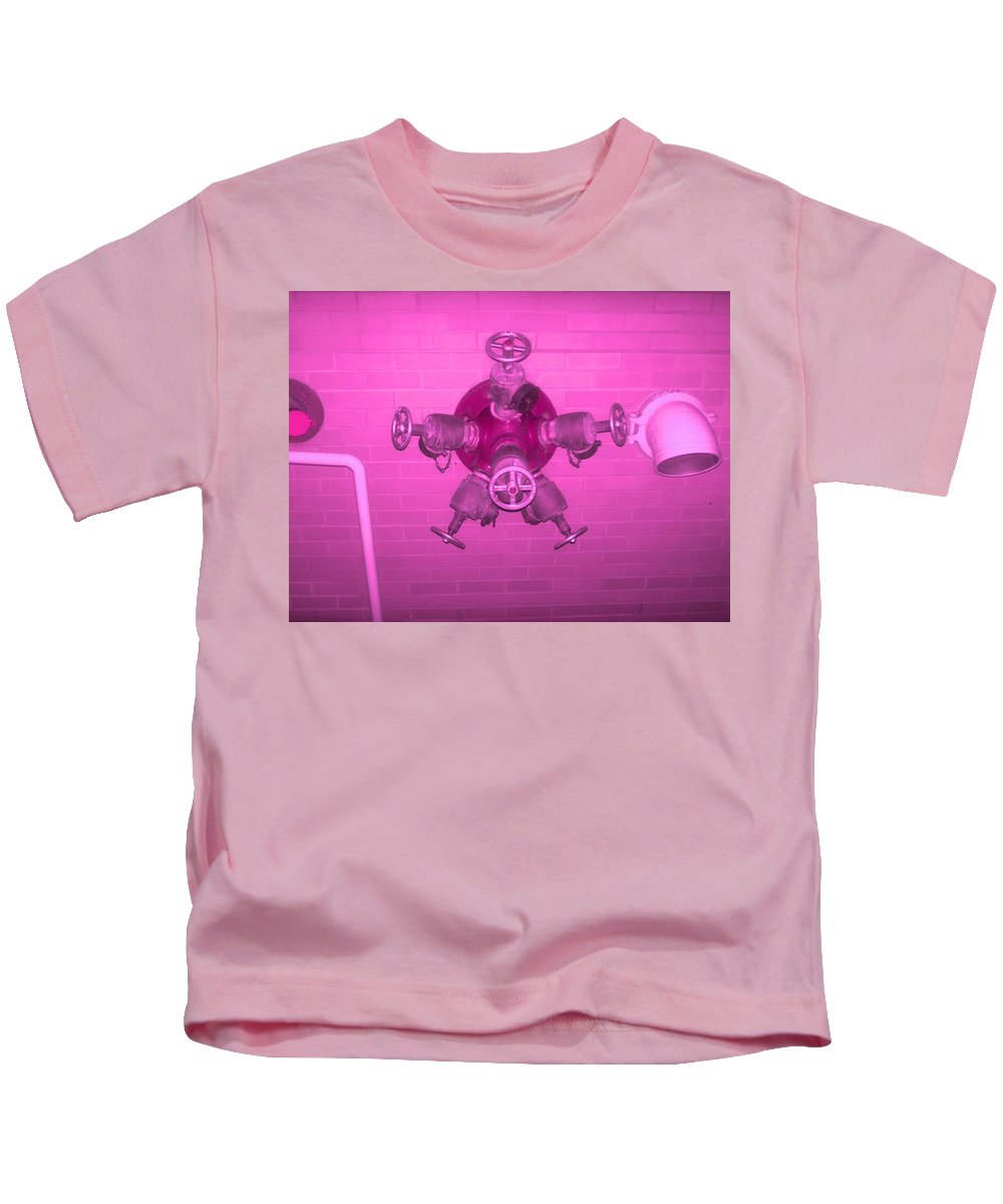 Photograph Kids T-Shirt featuring the photograph Pink Male Pipe by Thomas Valentine