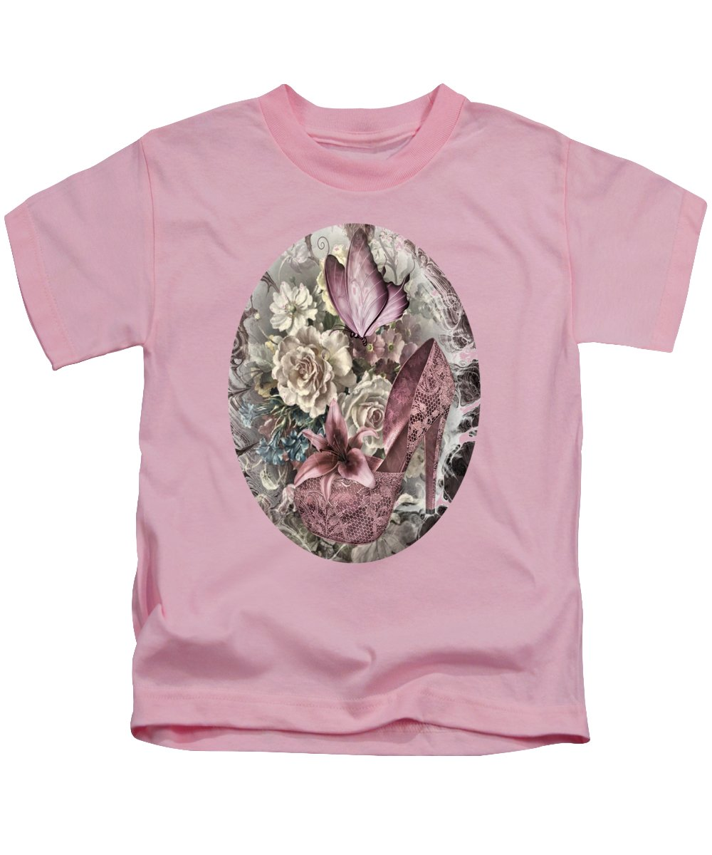 Pink Kids T-Shirt featuring the photograph Pink Slipper by G Berry