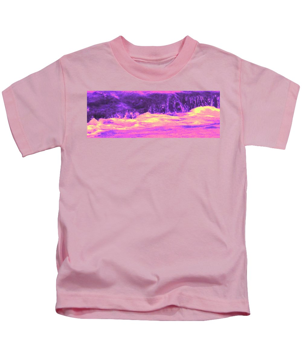 Seascape Kids T-Shirt featuring the photograph Pink Tidal Pool by Ian MacDonald