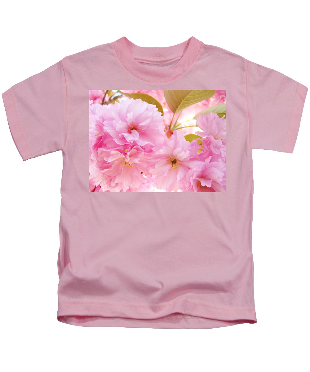 Blossom Kids T-Shirt featuring the photograph Pink Tree Blossoms Art Prints Spring Blossoms Baslee Troutman by Baslee Troutman