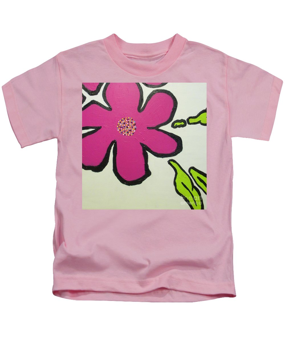 Flower Kids T-Shirt featuring the painting Pop Art Pansy by Maria Bonnier-Perez