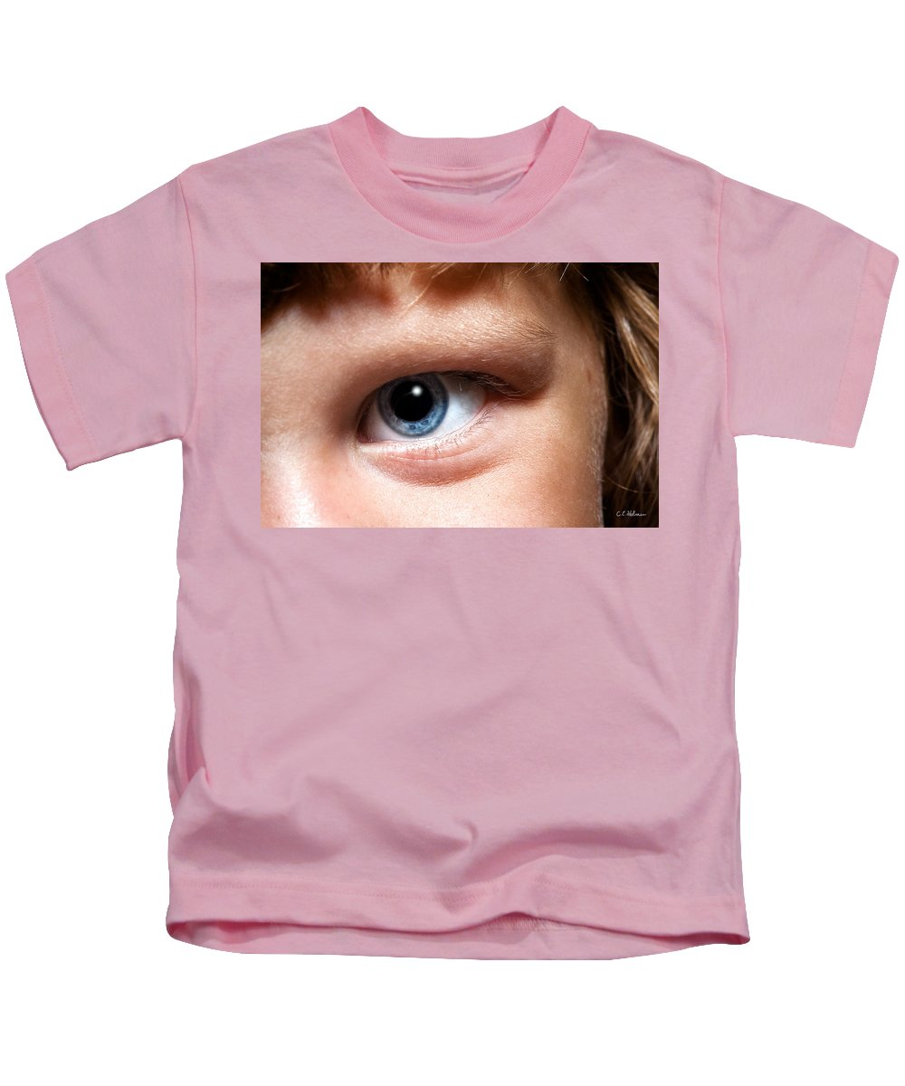 Eye Kids T-Shirt featuring the photograph Portal To The Soul by Christopher Holmes