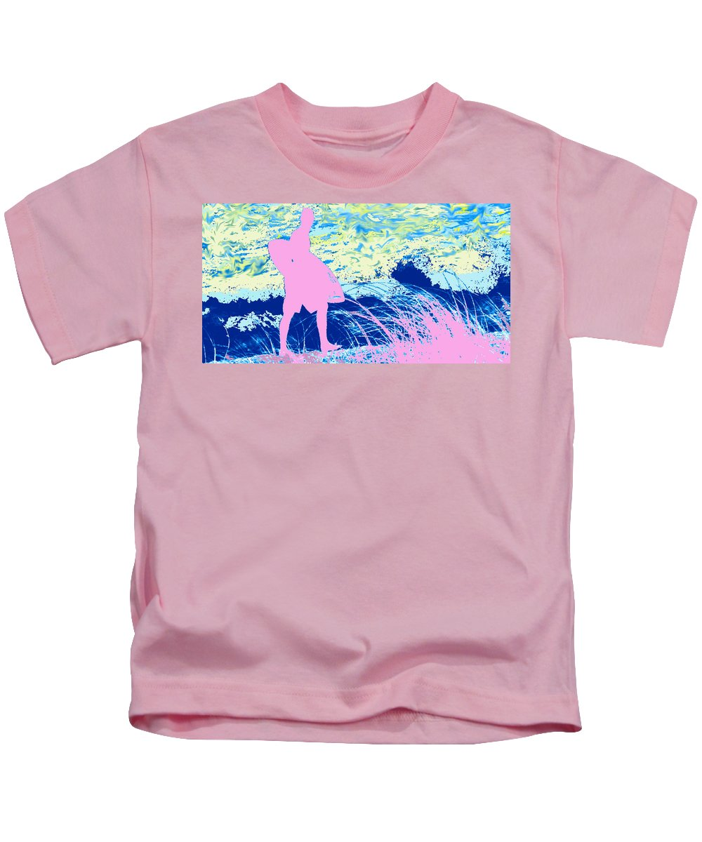 Florida Kids T-Shirt featuring the photograph Psychadelic Beach by Ian MacDonald