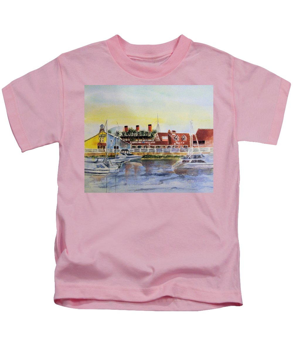 Watercolor Kids T-Shirt featuring the painting Queen Of The Shore by Debbie Lewis