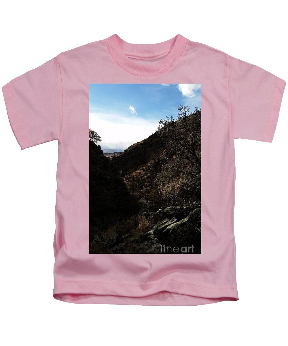 Landscape Kids T-Shirt featuring the photograph Quietly Hidden by Fred Kamps