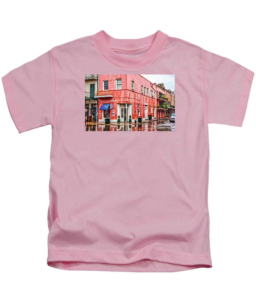 Rain Kids T-Shirt featuring the photograph Rainy Corner by Christopher Holmes
