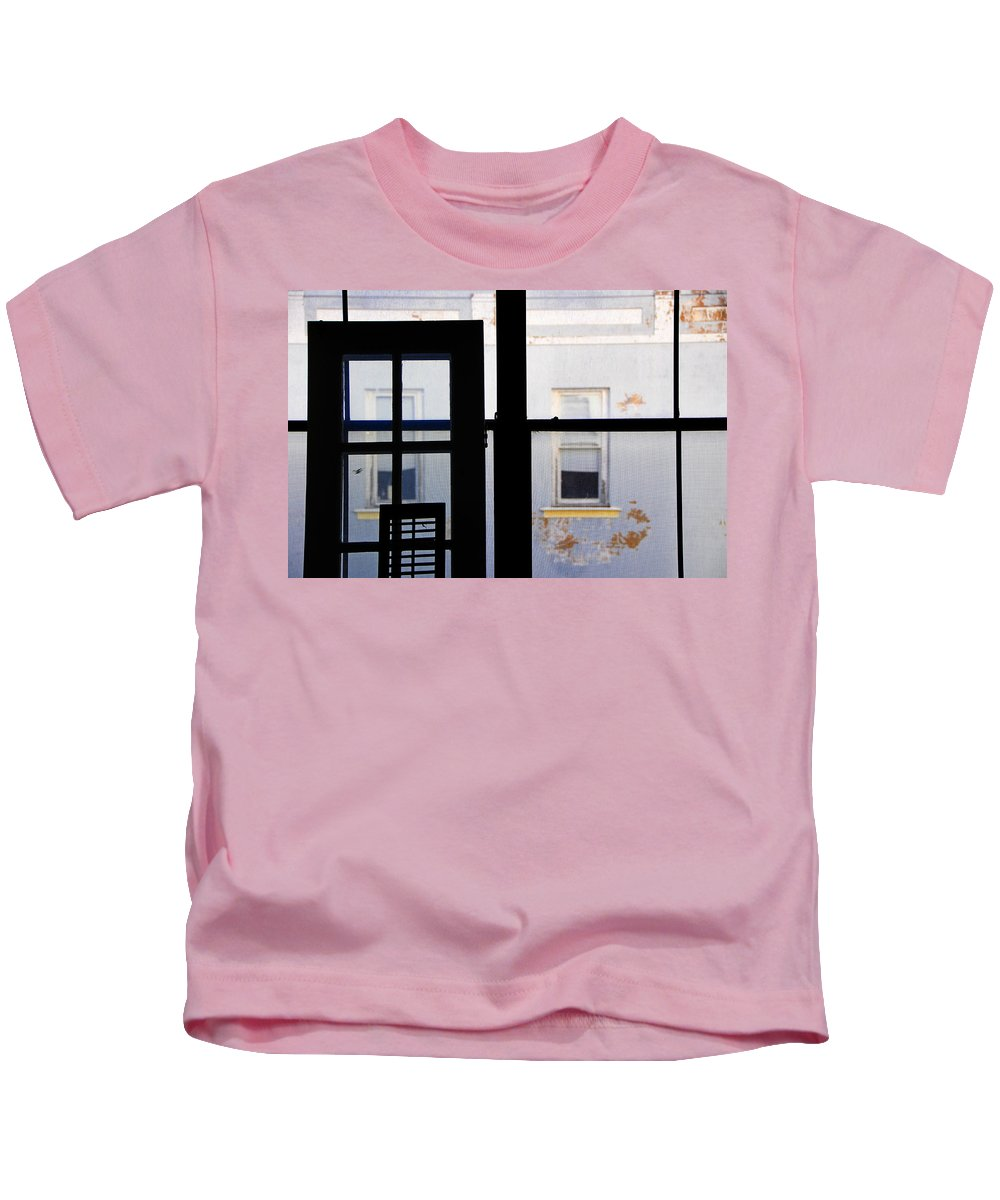 Architecture Kids T-Shirt featuring the photograph Rear Window 3 by Skip Hunt