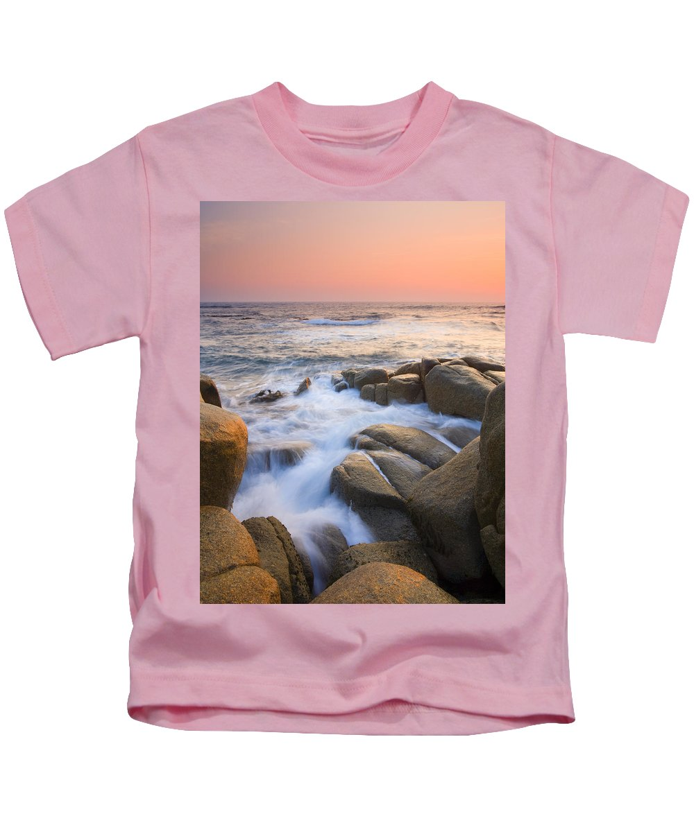 Sunrise Kids T-Shirt featuring the photograph Red Sky At Morning by Mike Dawson