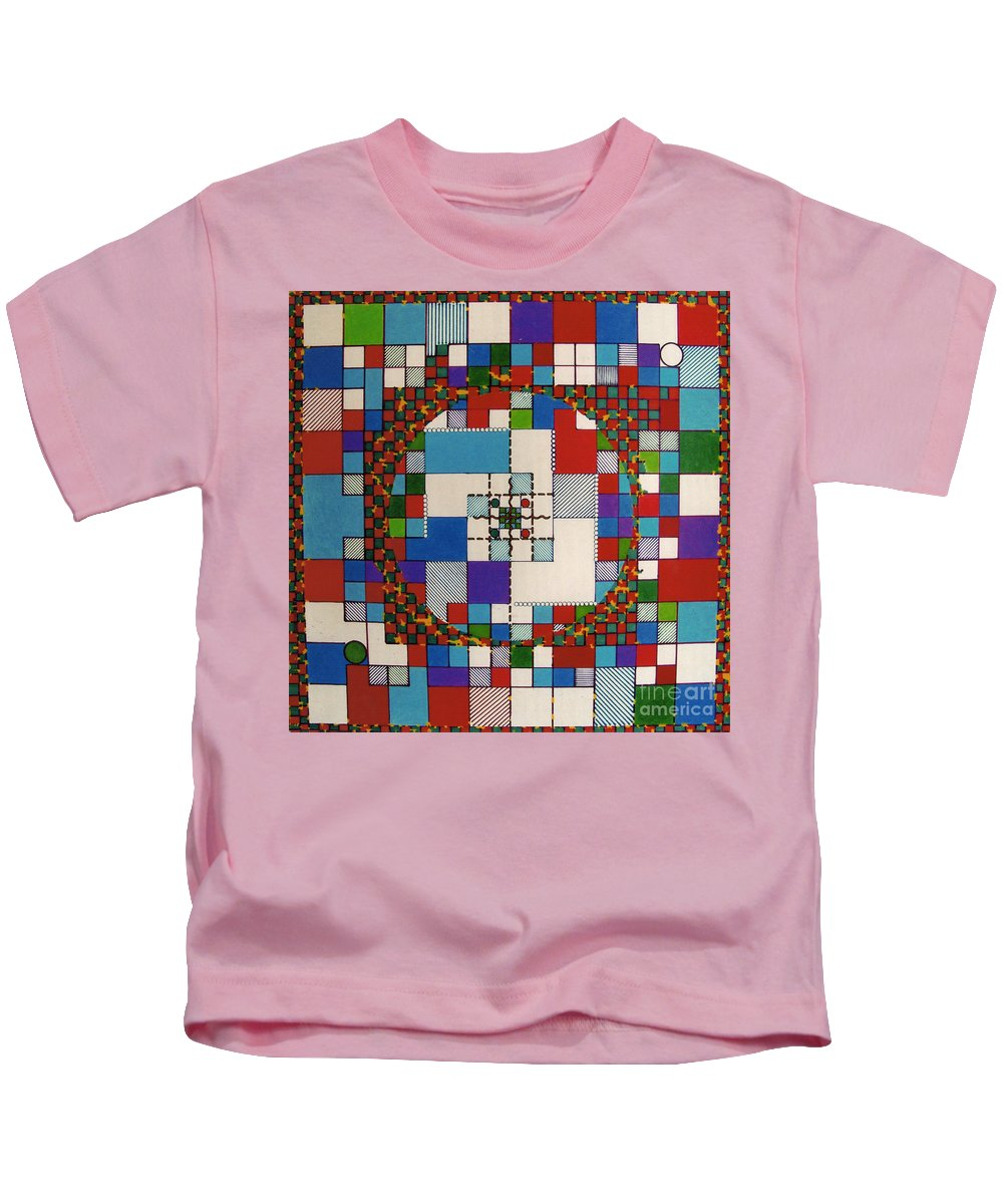 Abstract Kids T-Shirt featuring the drawing Rfb0647 by Robert F Battles