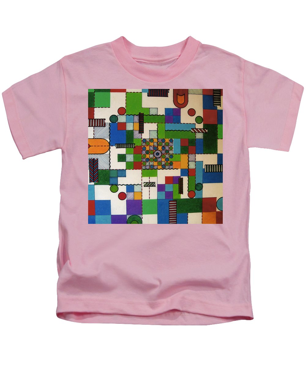 Abstract Kids T-Shirt featuring the drawing Rfb0648 by Robert F Battles