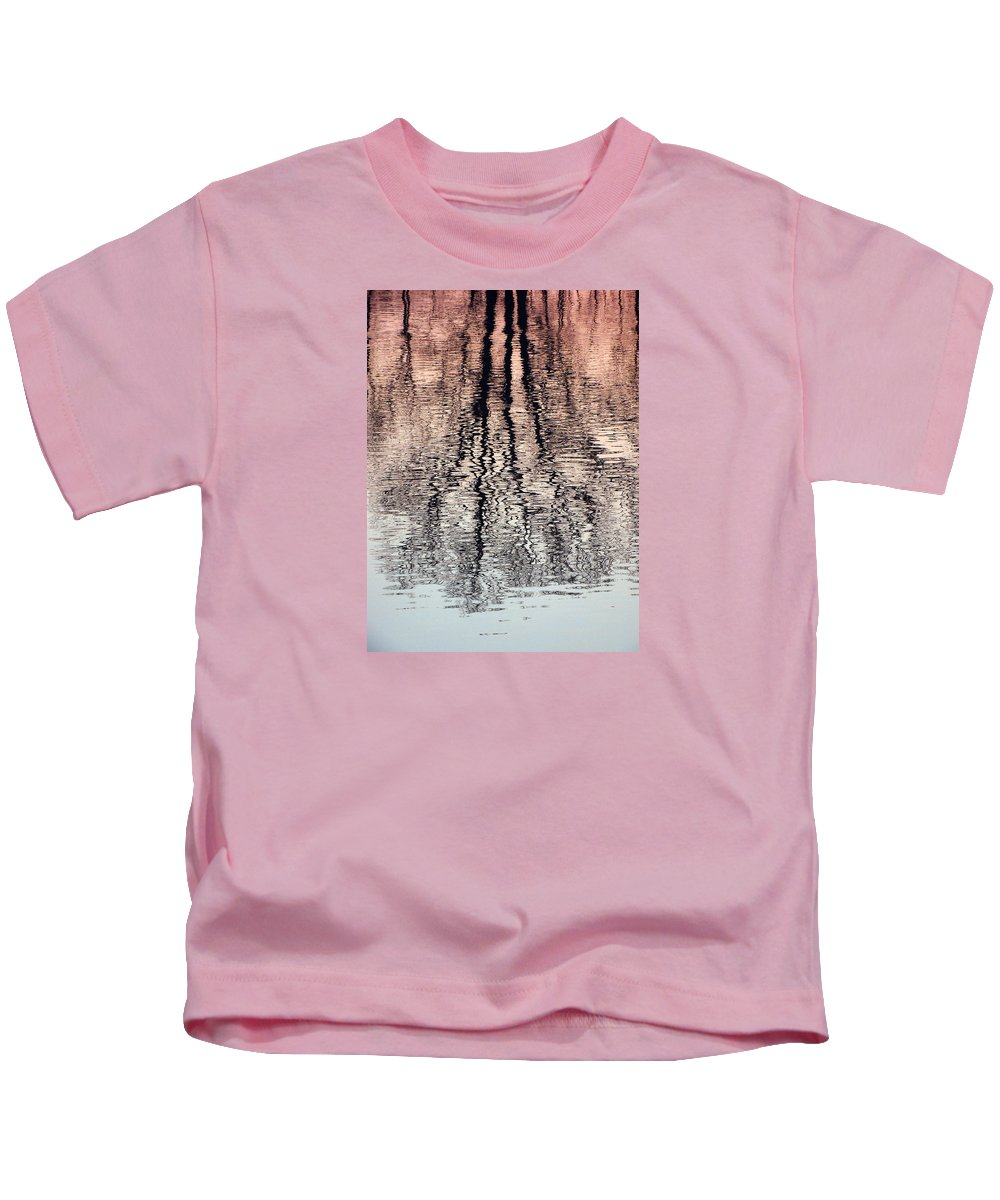 Waves Kids T-Shirt featuring the photograph Rippled Reflection by J R  Seymour