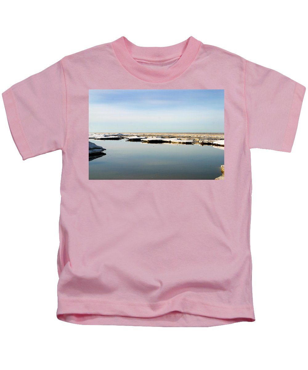Ocean Kids T-Shirt featuring the photograph River To The Arctic Ocean by Anthony Jones