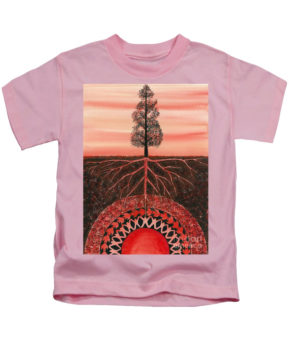 Chakra Kids T-Shirt featuring the painting Root Chakra by Catherine G McElroy