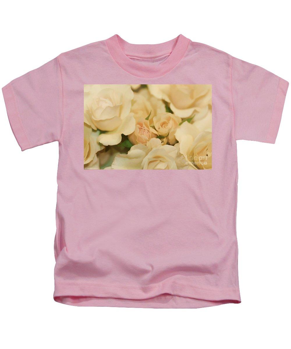 White Kids T-Shirt featuring the photograph Rose Bouquet by Deborah Benoit
