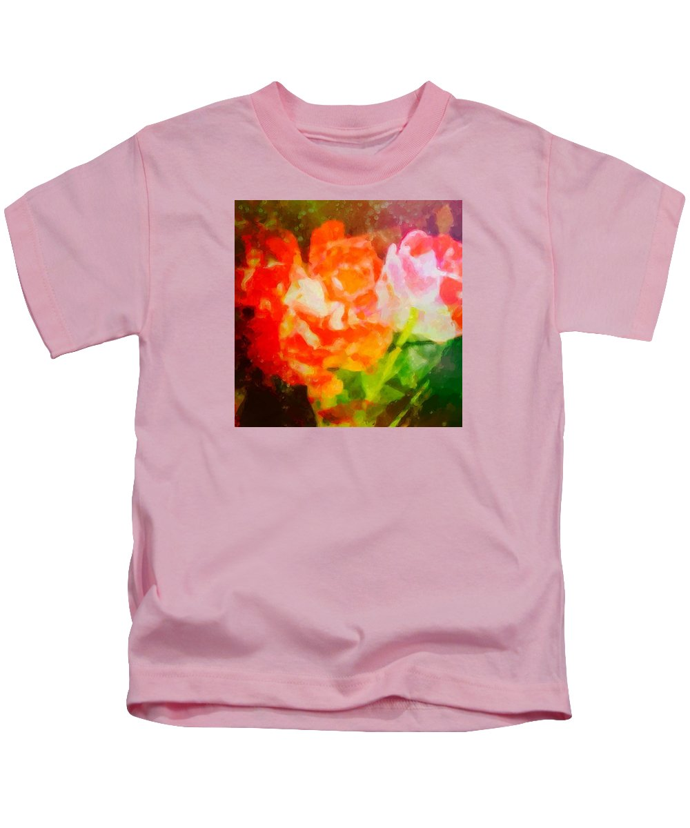Abstract Kids T-Shirt featuring the photograph Roses by Rita Koivunen