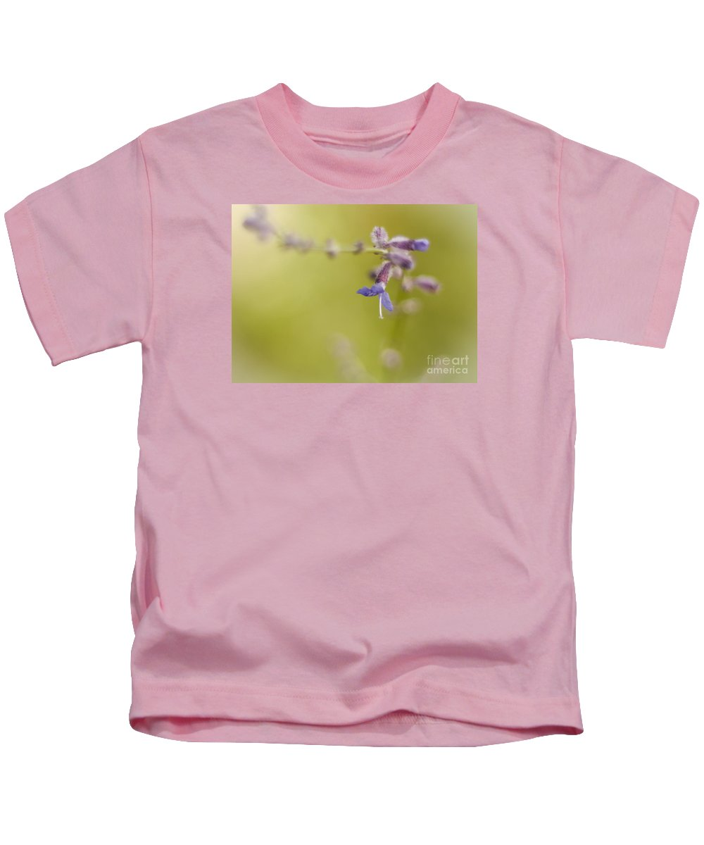 Russian Sage Kids T-Shirt featuring the photograph Sage Abstract by Lisa Phillips