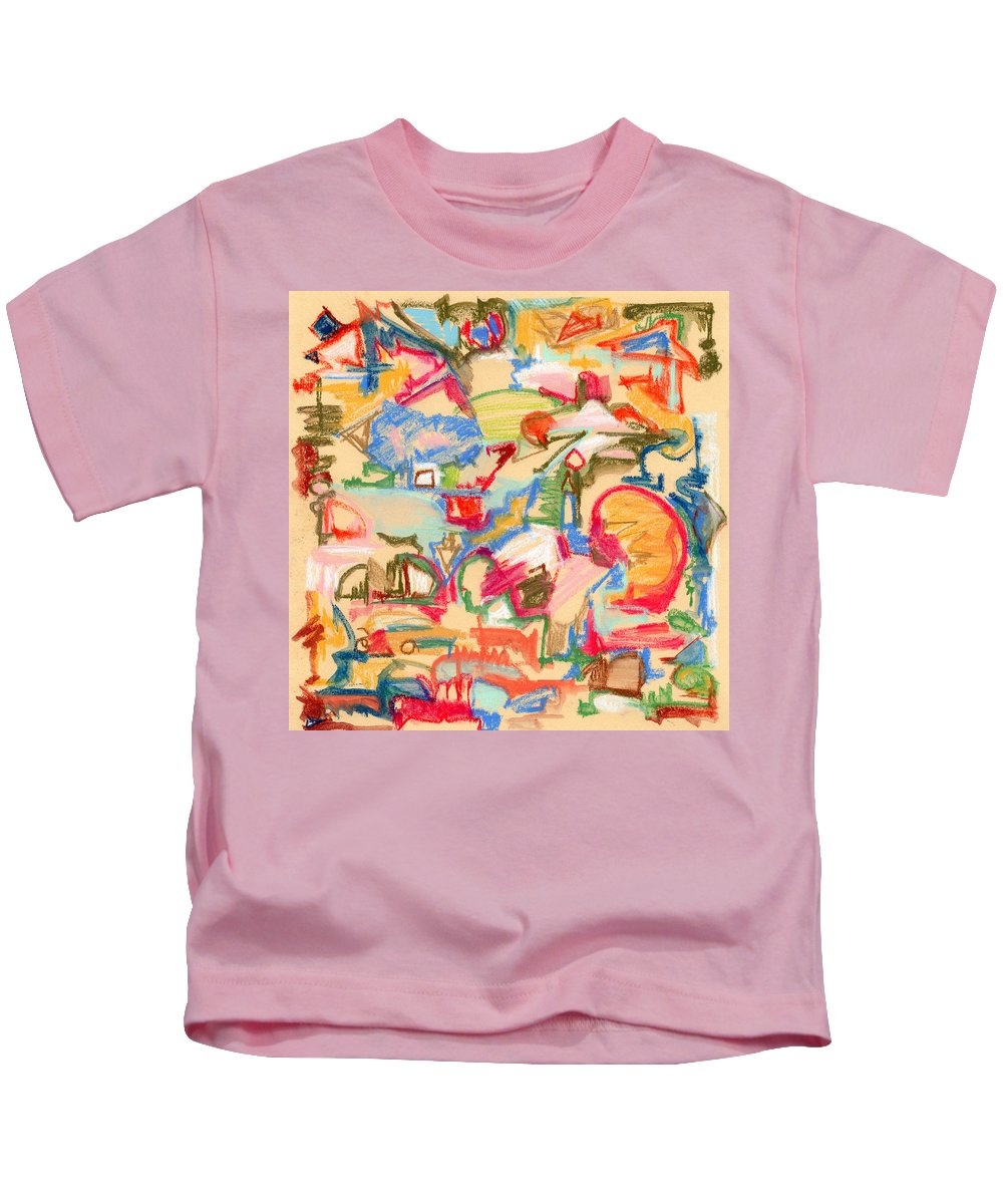 Scattered Kids T-Shirt featuring the painting Scattered by Pamela Parsons