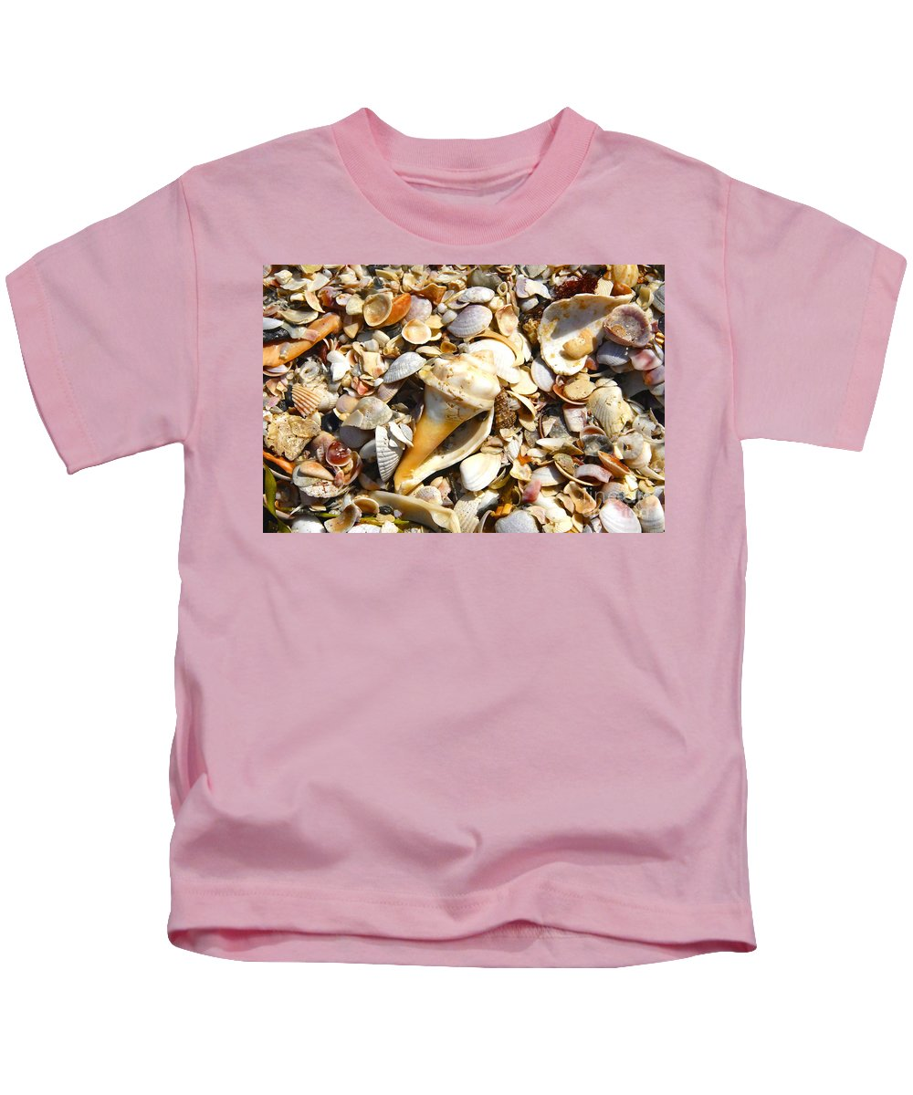 Florida Kids T-Shirt featuring the photograph Sea Shells by David Lee Thompson