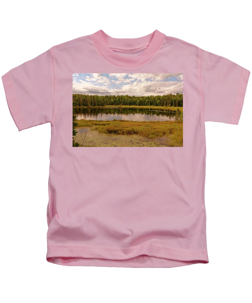Lake Kids T-Shirt featuring the photograph Secluded Lake by Peter Ponzio