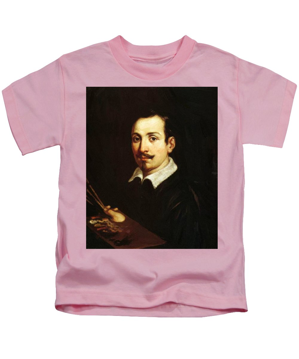 Self Kids T-Shirt featuring the painting Self Portrait 1604 by Reni Guido