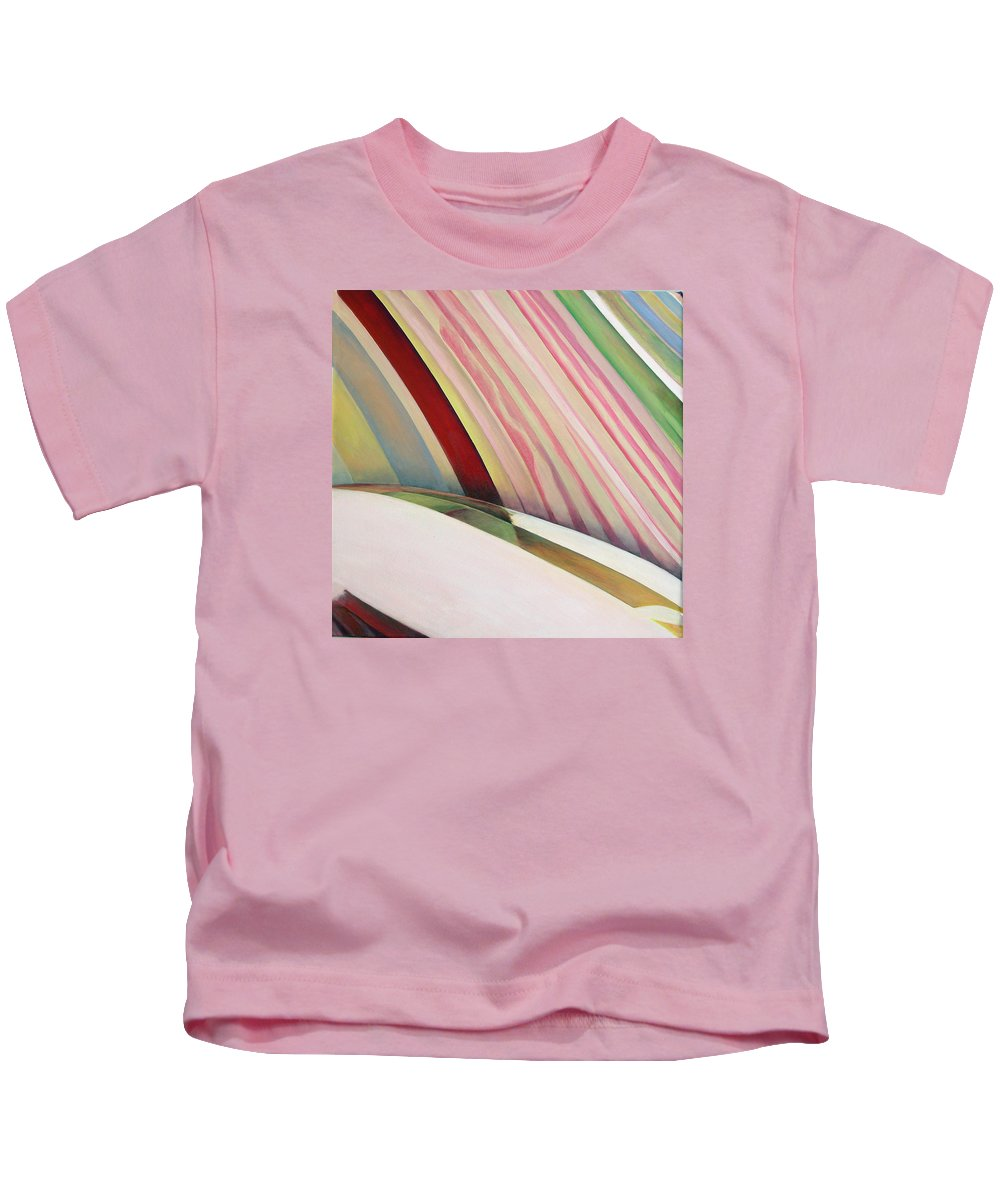 Abstract Kids T-Shirt featuring the painting Sens 1 by Muriel Dolemieux